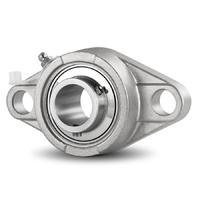 Stainless Steel Flange Bearing / Flange Housing Unit SS UCFL208 - Shaft: 40 mm