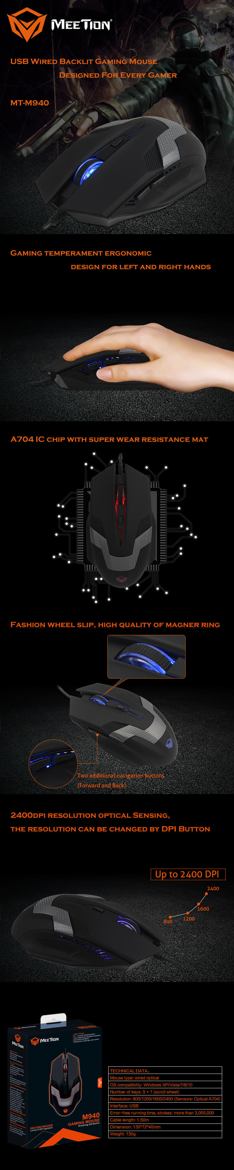 Meetion optical gaming mouse supplier-1