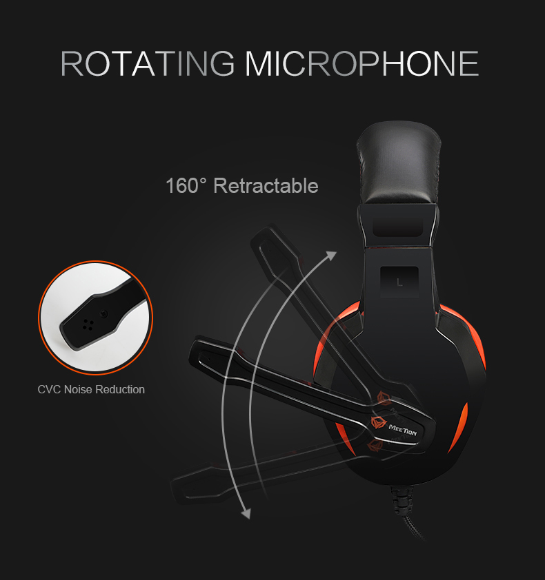 Meetion gaming headset sale factory