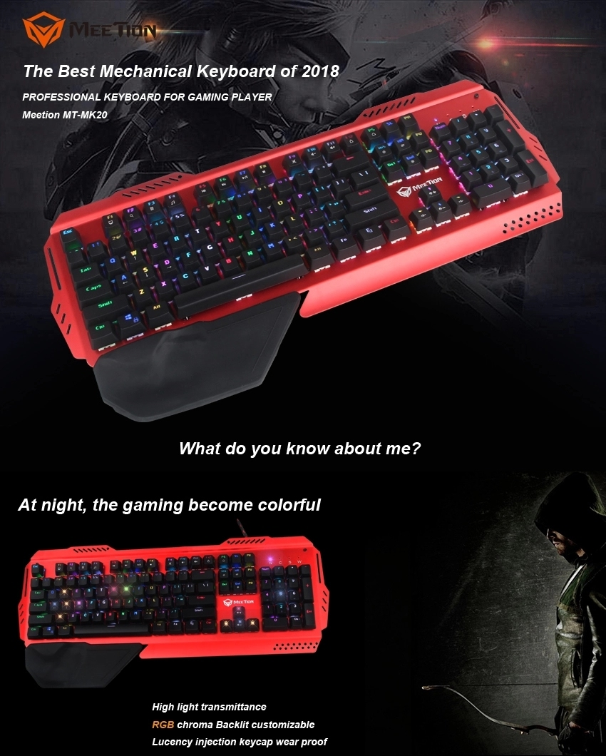 Meetion best mechanical gaming keyboard company