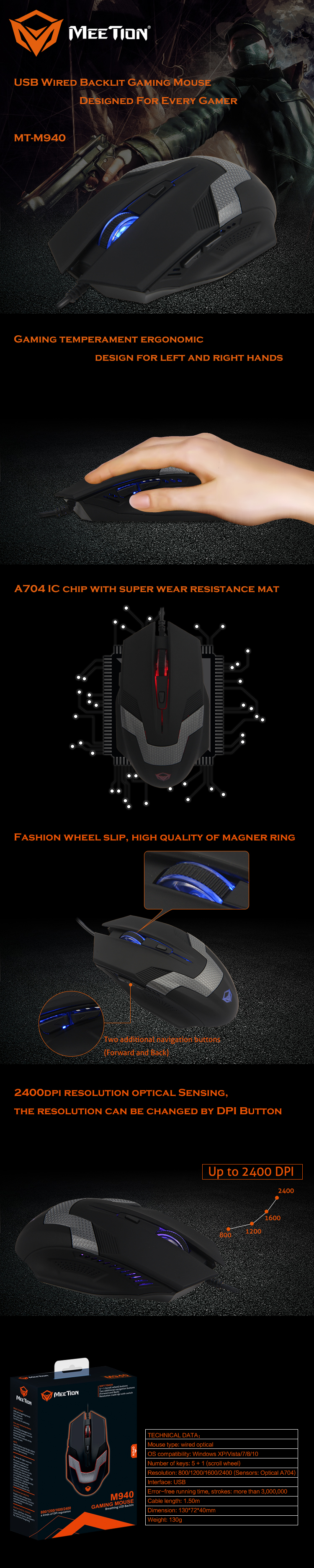 Meetion wholesale best wired mouse in india supplier-1