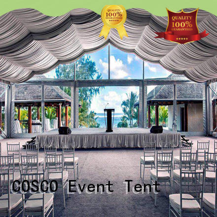 COSCO exhibition tent structure owner for holiday