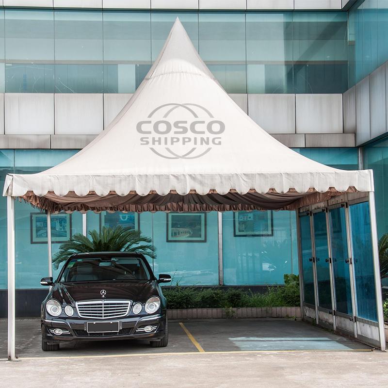 COSCO Customized size 6x3 4x4 Outdoor Sun Proof White Exhibition Gazebo Pagoda Tent