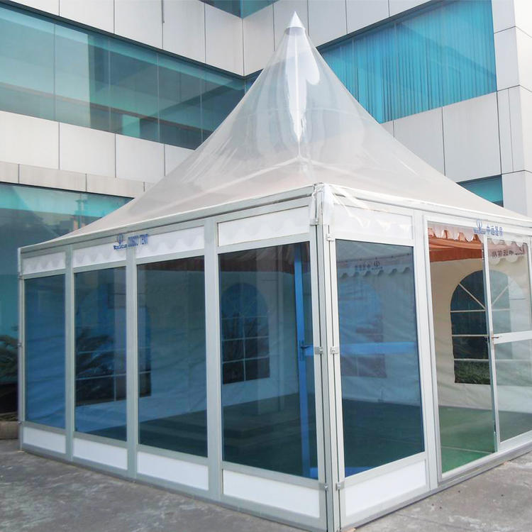Custom Size Sound Proof Pyramid Tent Clear Roof Pagoda Gazebo Tent