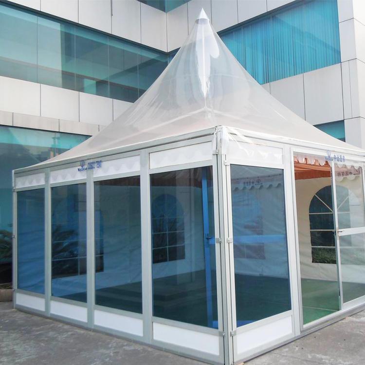Custom Size Sound Proof Pyramid Tent Clear Roof Pagoda Gazebo Tent