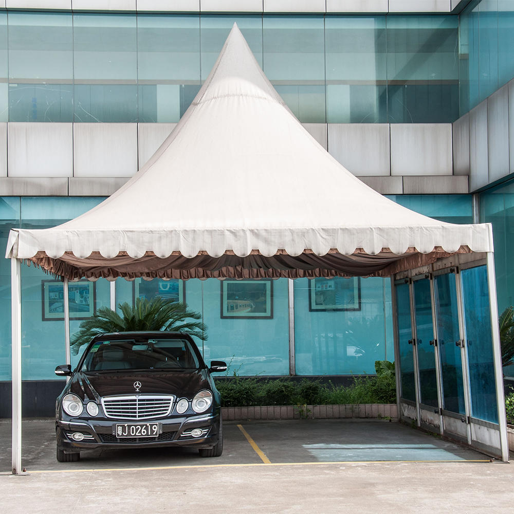 COSCO Custom Garden Outdoor Pyramid Tent Pagoda Gazebo For Car With Sidewall
