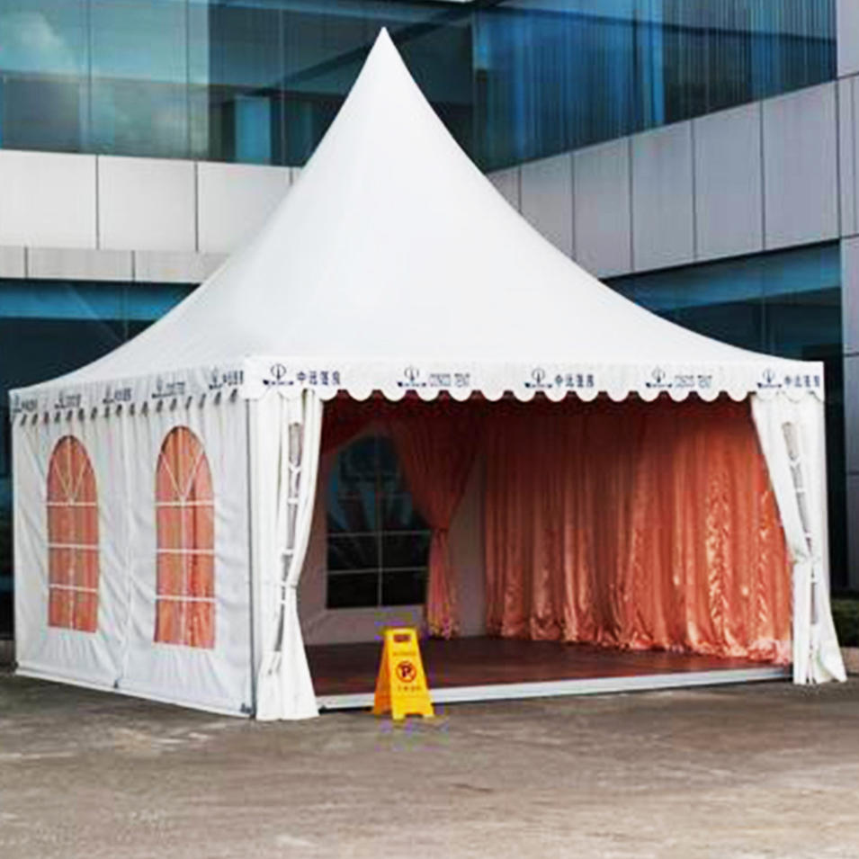 White pvc design top height polygonal hexagonal gazebo tent