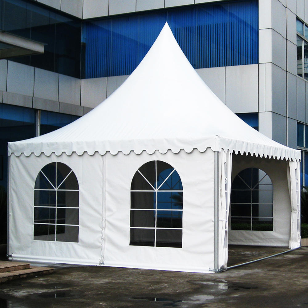 White pvc design top height polygonal hexagonal gazebo tent