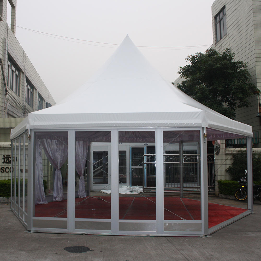 COSCO Advanced Quality Outdoor Pop Up Pagoda Tent 6x6 Event Party Wedding Tent 20ft x 20ft (6m x 6m)