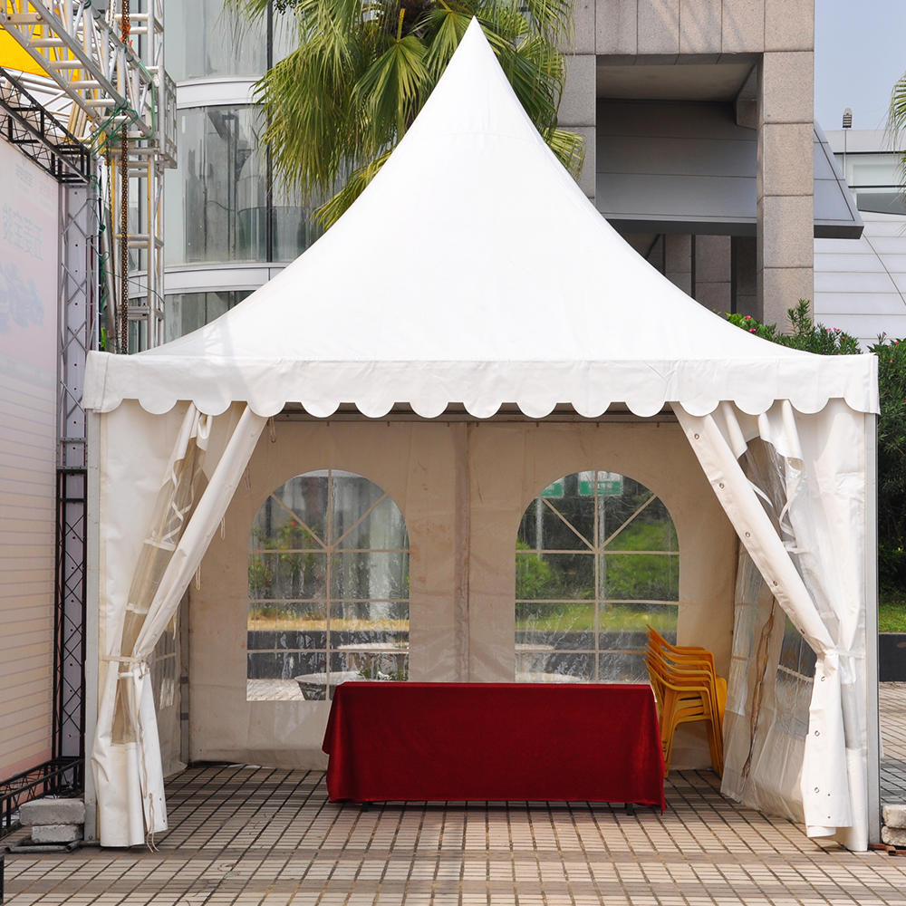 3X3,4X4,5X5,6X6,8X8,10X10M Outdoor Small Aluminum Canopy Pagoda Tent For Sale