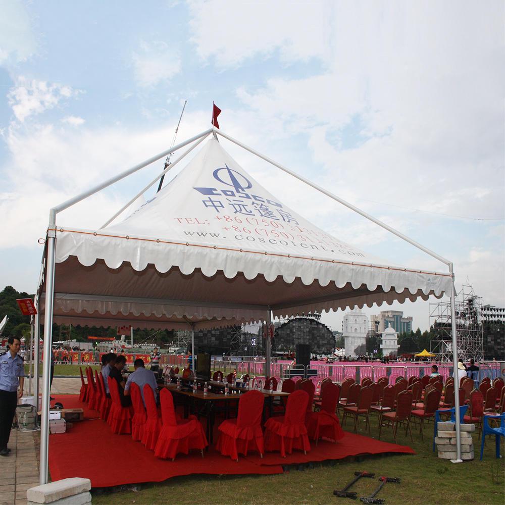China supplier commercial permanent metal aluminum frame garden furniture outdoor gazebo tent