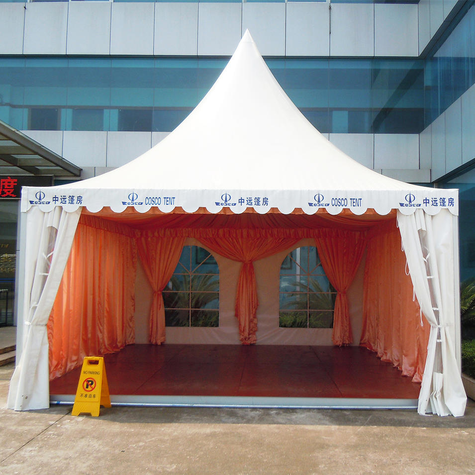Aluminum frame pvc coated fabric marquee party tent 10x10 big size high peak canopy tent for sale