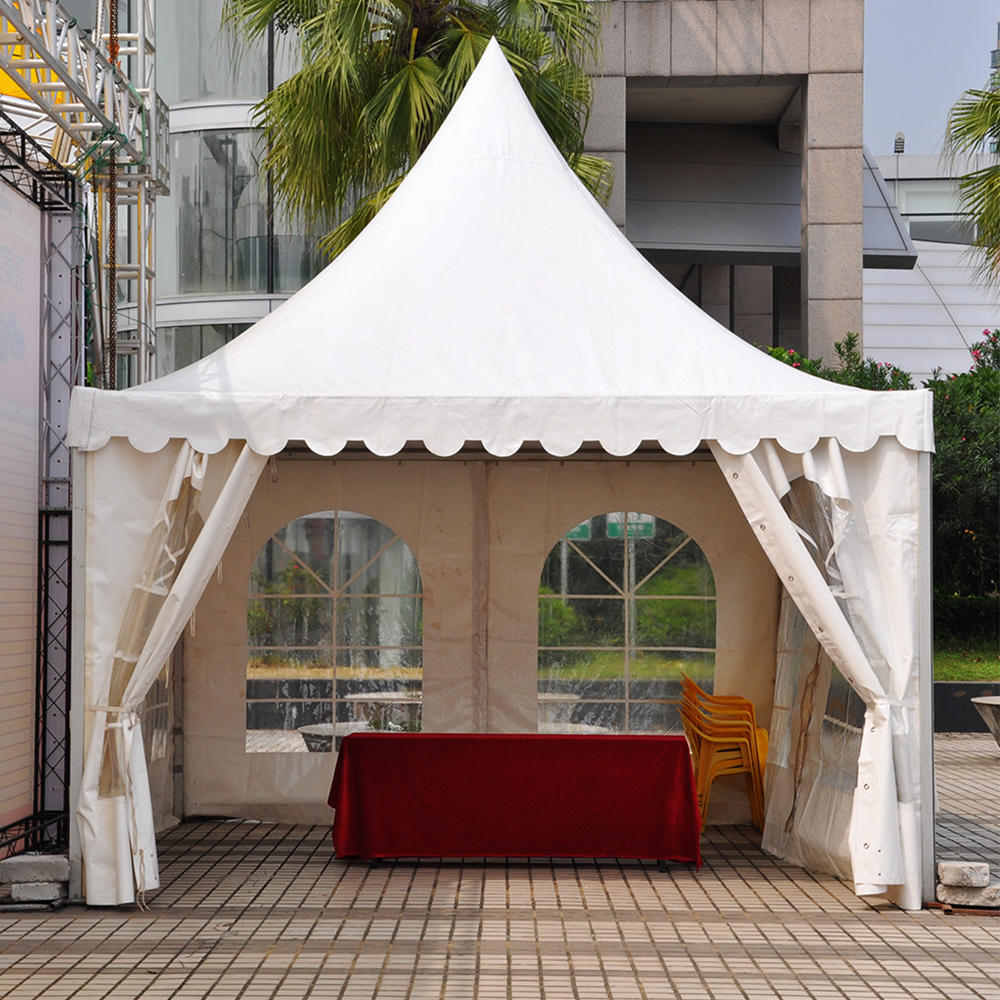New design Outdoor party pagoda tent with transparent pvc window