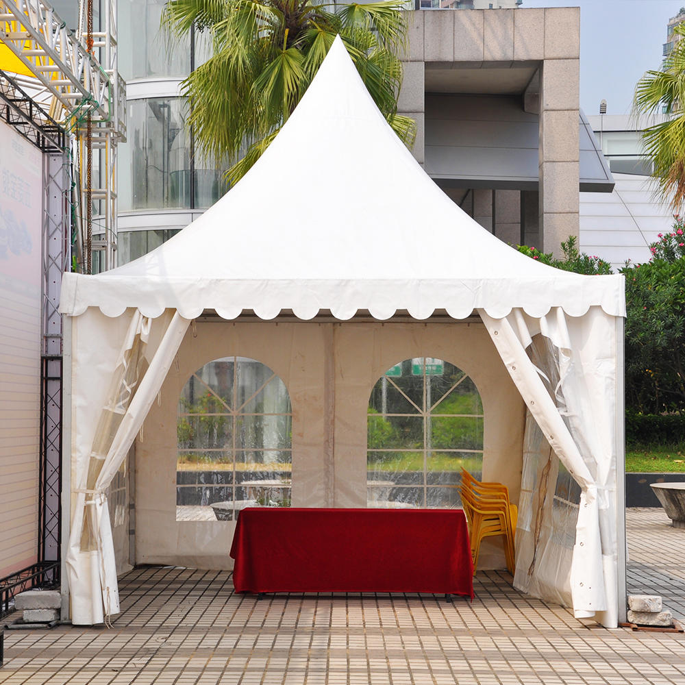 Outdoor UV Resistance Aluminum Frame PVC Garden Single Parking Paogda Tent