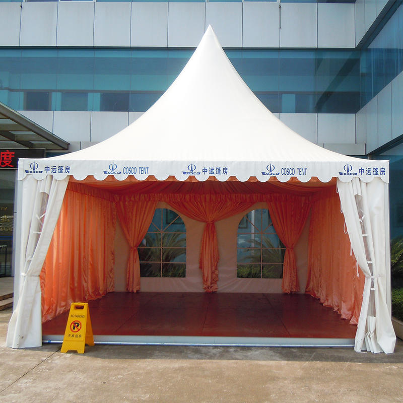 Custom Outdoor Exhibition Pagoda Canvas Tent canvas party tent