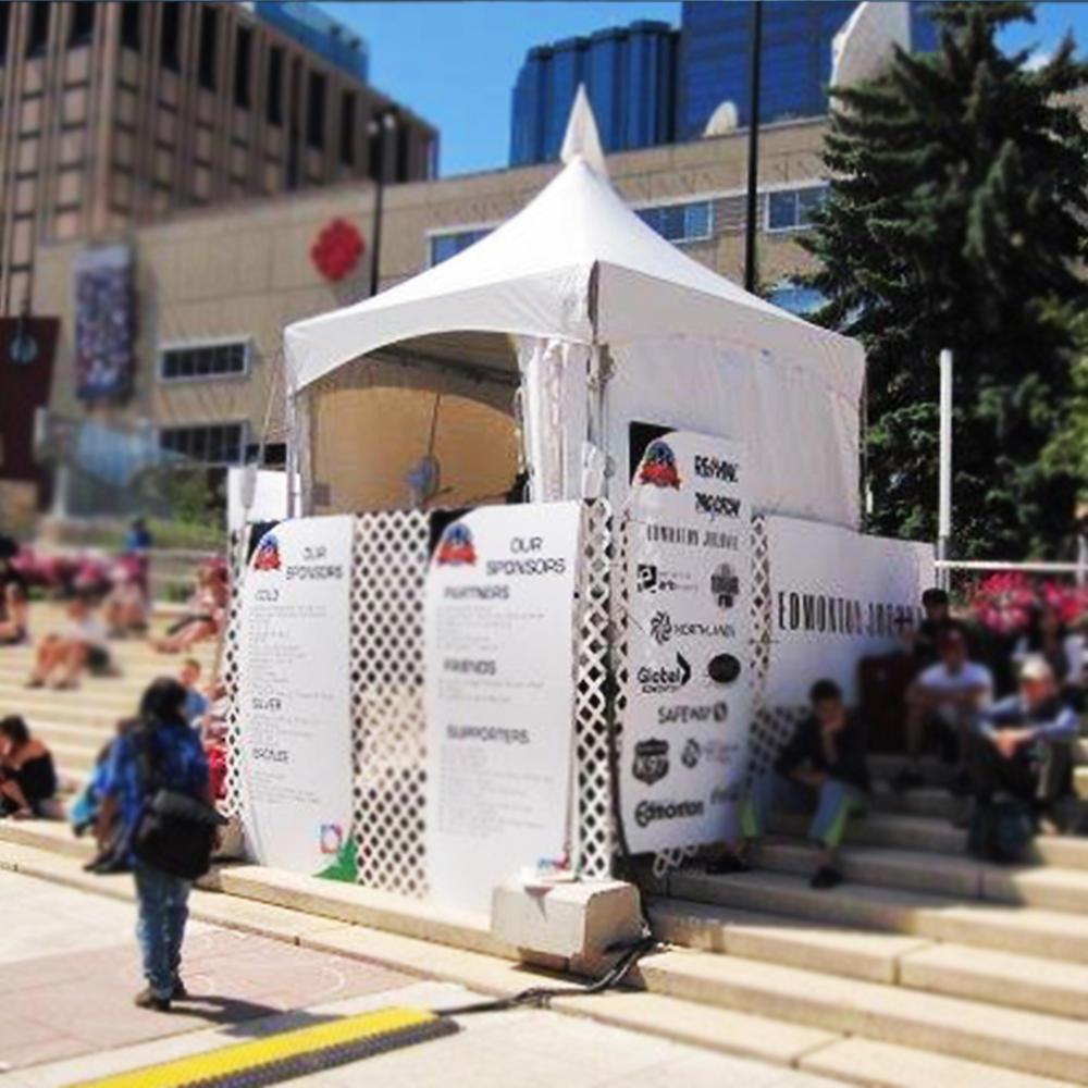 Cheap heavy duty aluminum frame exhibition folding tent