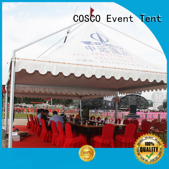 COSCO inexpensive gazebo tents for sale China for engineering
