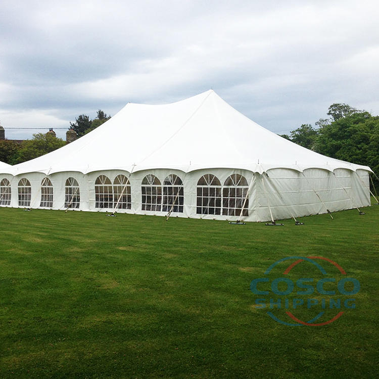 Custom outdoor aluminum 100 people capacity wedding party event marquee tents for sale