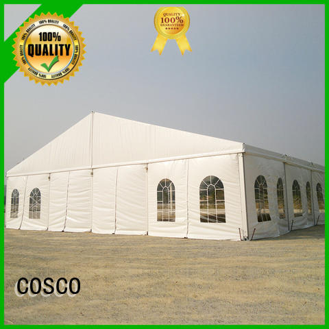 COSCO high peak tent structure owner Sandy land