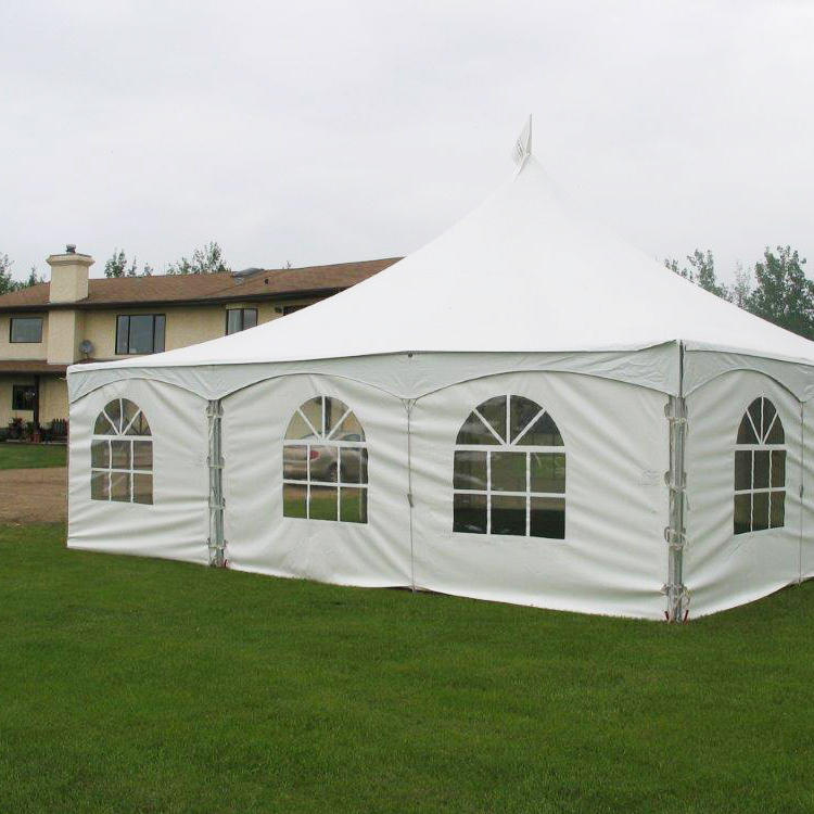 COSCO High Peak Marquee Party Event Tent Temporary House Aluminum Frame Tent With Clear Window