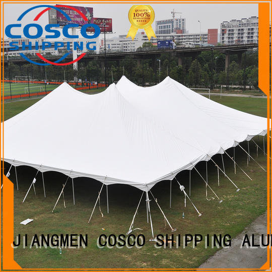 COSCO inexpensive peg and pole tents for sale in-green cold-proof