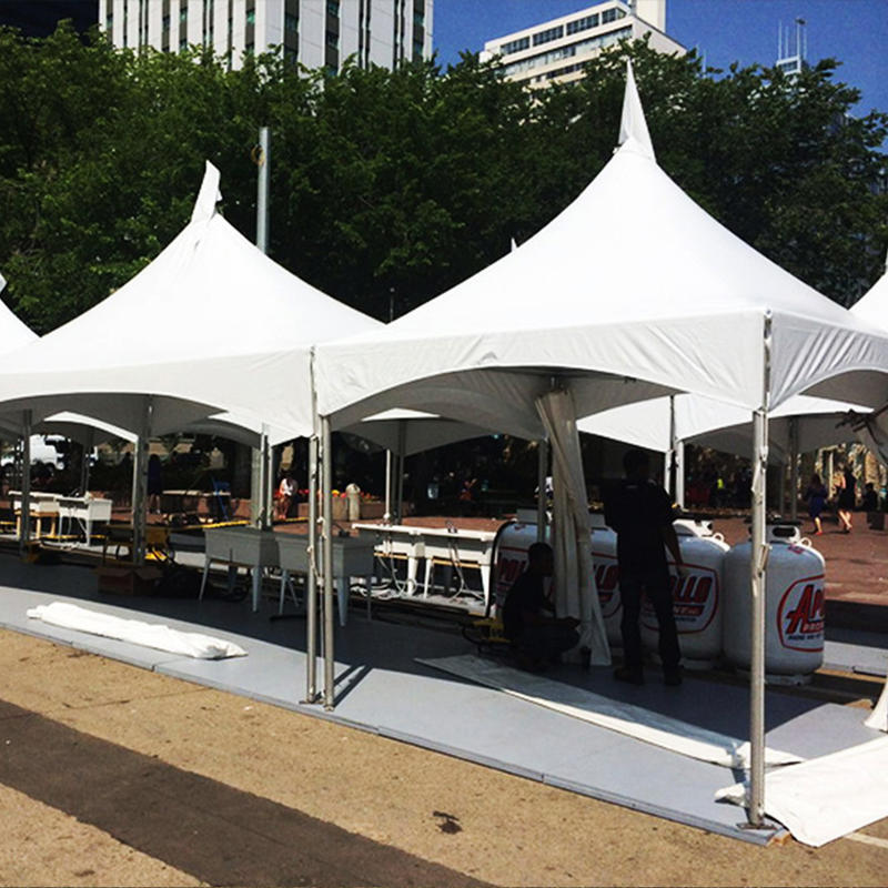 5X5M Wholesale cheap Aluminum Frame canopy industrial tent, PVC White Fabric Unfolding trade show Tent for Commercial