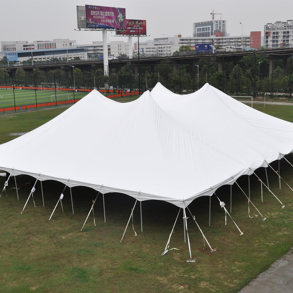 COSCO Outdoor Shade White Marquee Tent Strech Pole Tent For Wedding Party Event