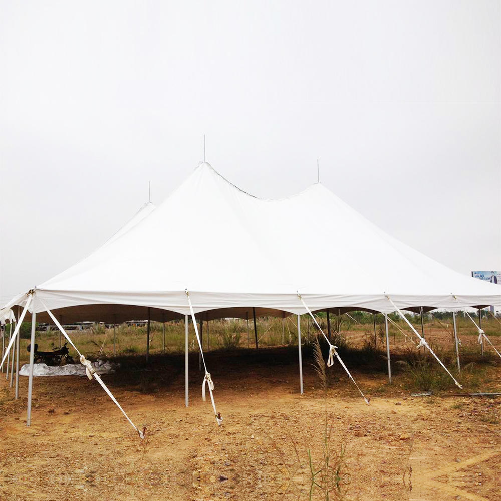COSCO Canvas Military Hospital Tent, White Modular Army Command Military Pole Tent
