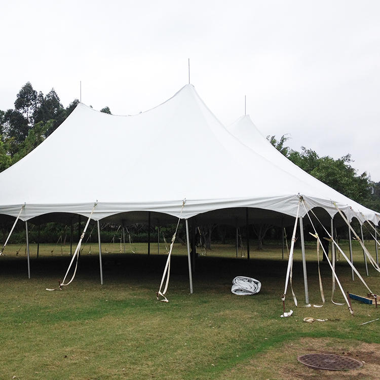 COSCO Aluminium Profile PVC Fabric High Peak Peg and Pole Tent, Dinner Party Event Center Pole Tent