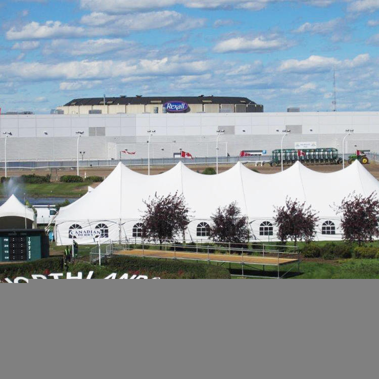 COSCO Aluminium Profile PVC Fabric High Peak Peg and Pole Tent, Dinner Party Event Center Pole Tent