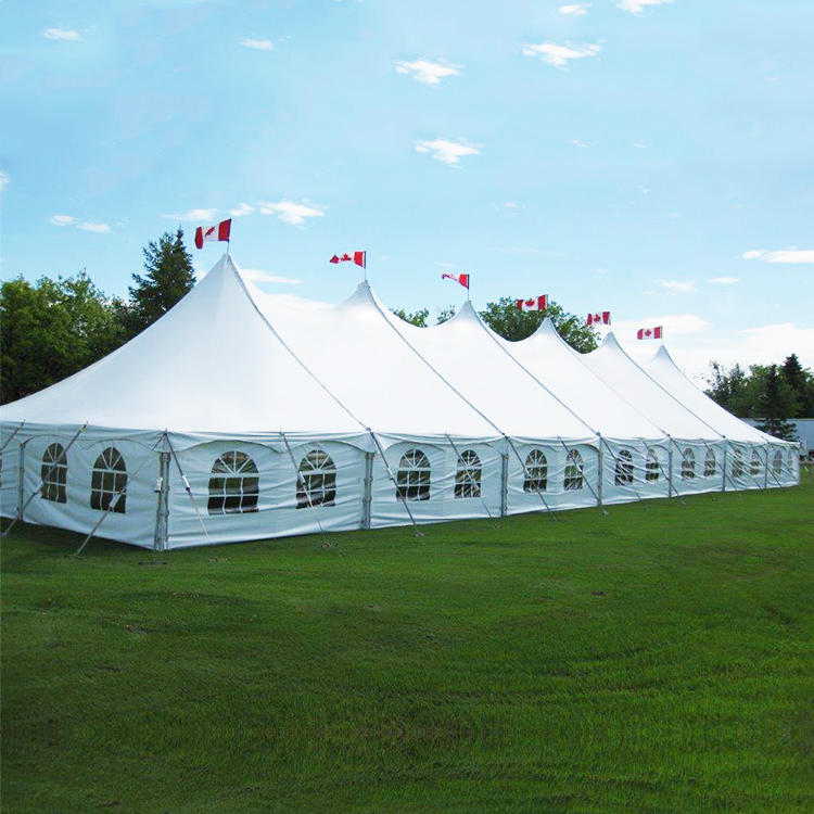 COSCO Winter Outdoor White Party Tent, Aluminium Structure Peg and Pole Tent