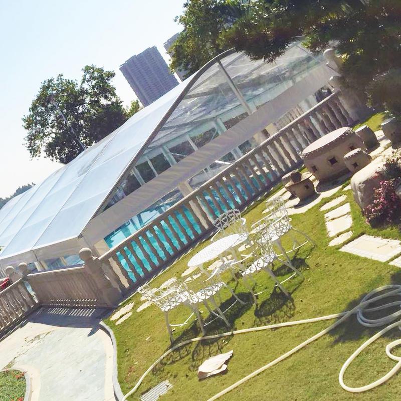 Large Aluminum Structure PVC Curved Arcum Roof Marquee Tent