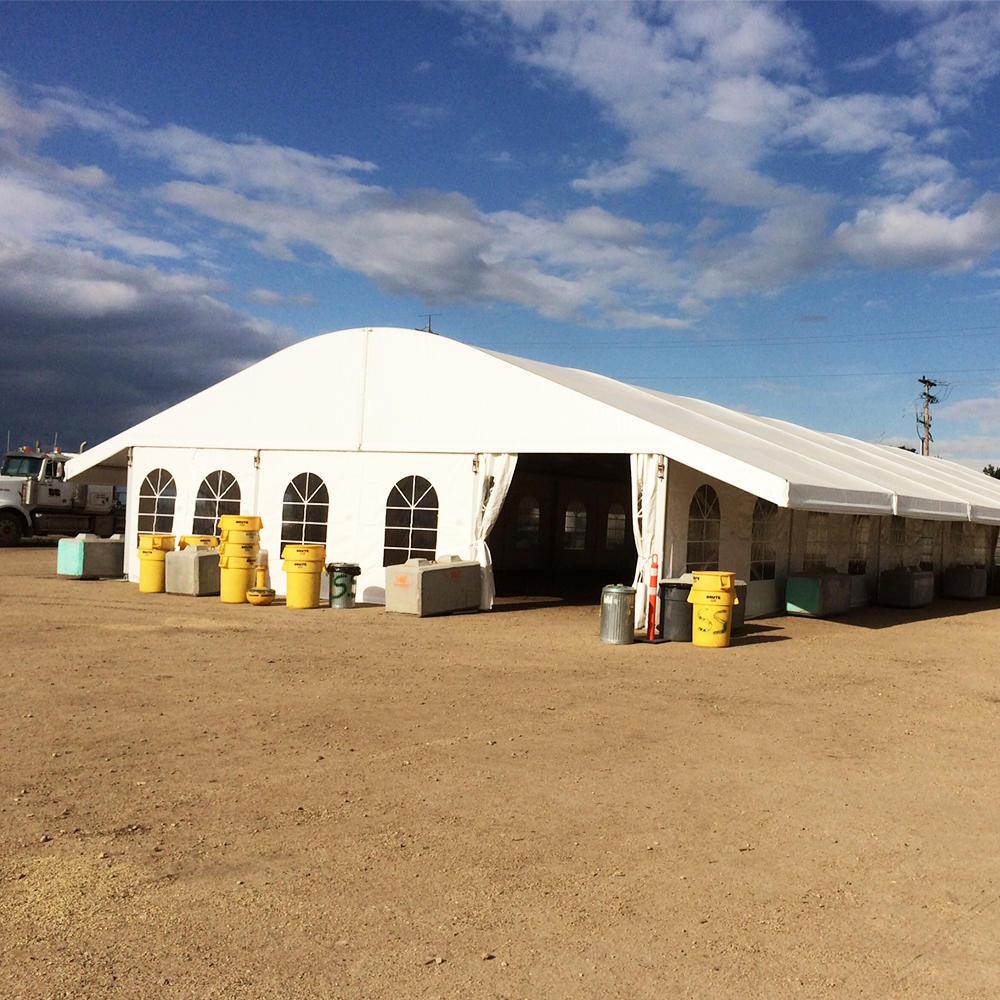 COSCO Supplier Aluminium Frame PVC Fabric Coated Arch Tent