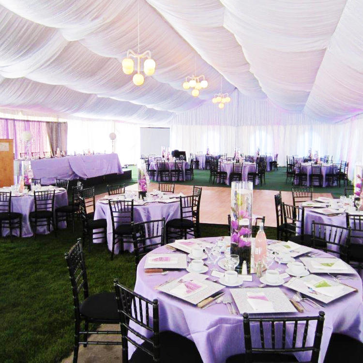 10m x 15m Clear Span Aluminum A Frame PVC Coated Large Wedding Marquee Tent With Lining