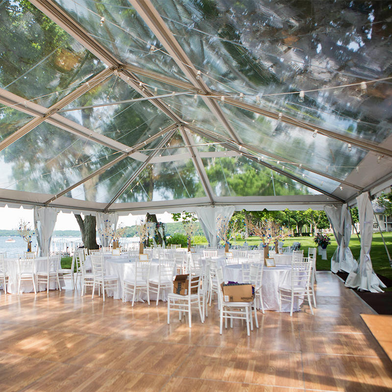 Aluminum Frame Transparent PVC Roof Luxury Outdoor Wedding Event Party Marquee Tents