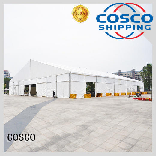 COSCO event tent structure cost for disaster Relief