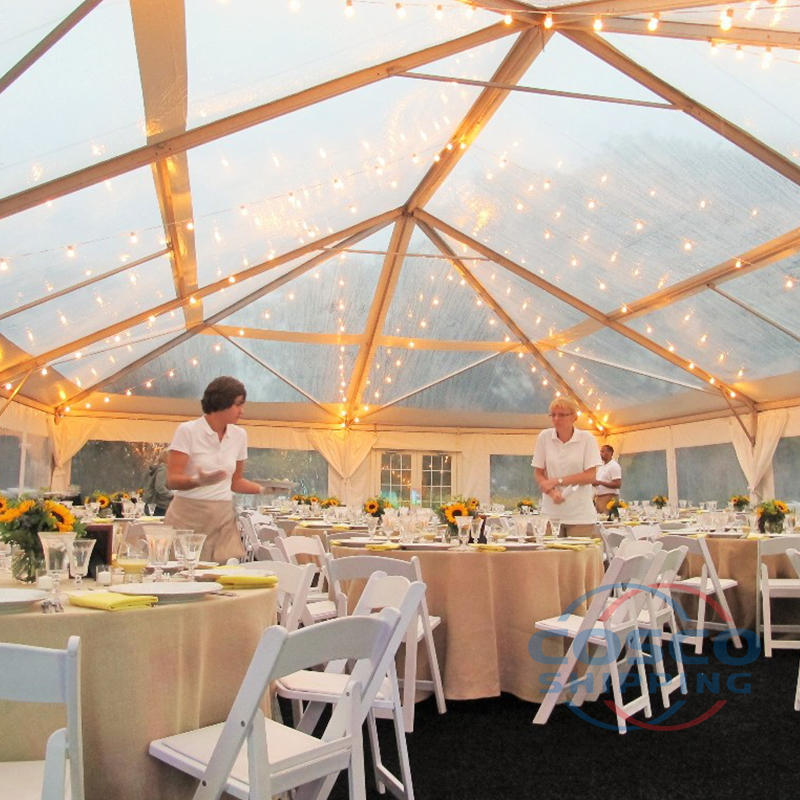 2019 New transparent wedding tent glass wedding tent
