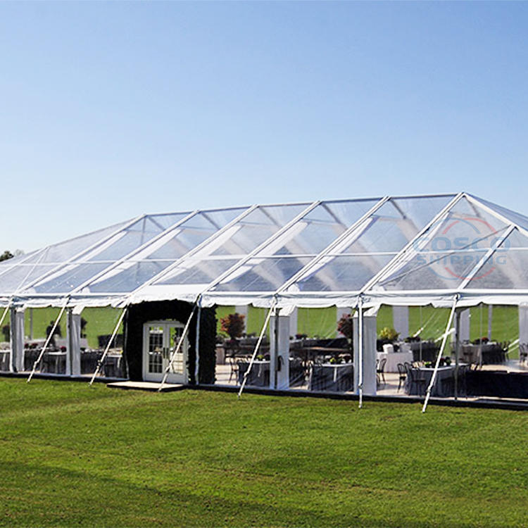 Outdoor transparent tent for 100 people luxury wedding tent for events marquee