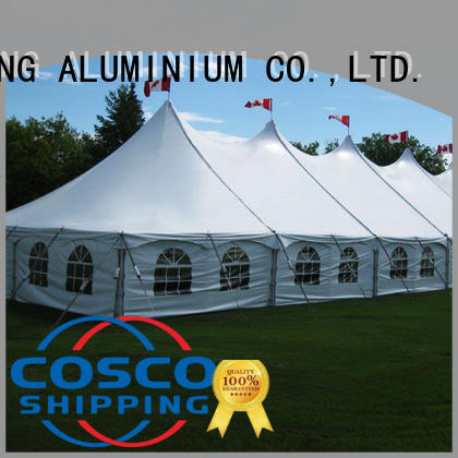 COSCO derive frame tents prices in-green Sandy land