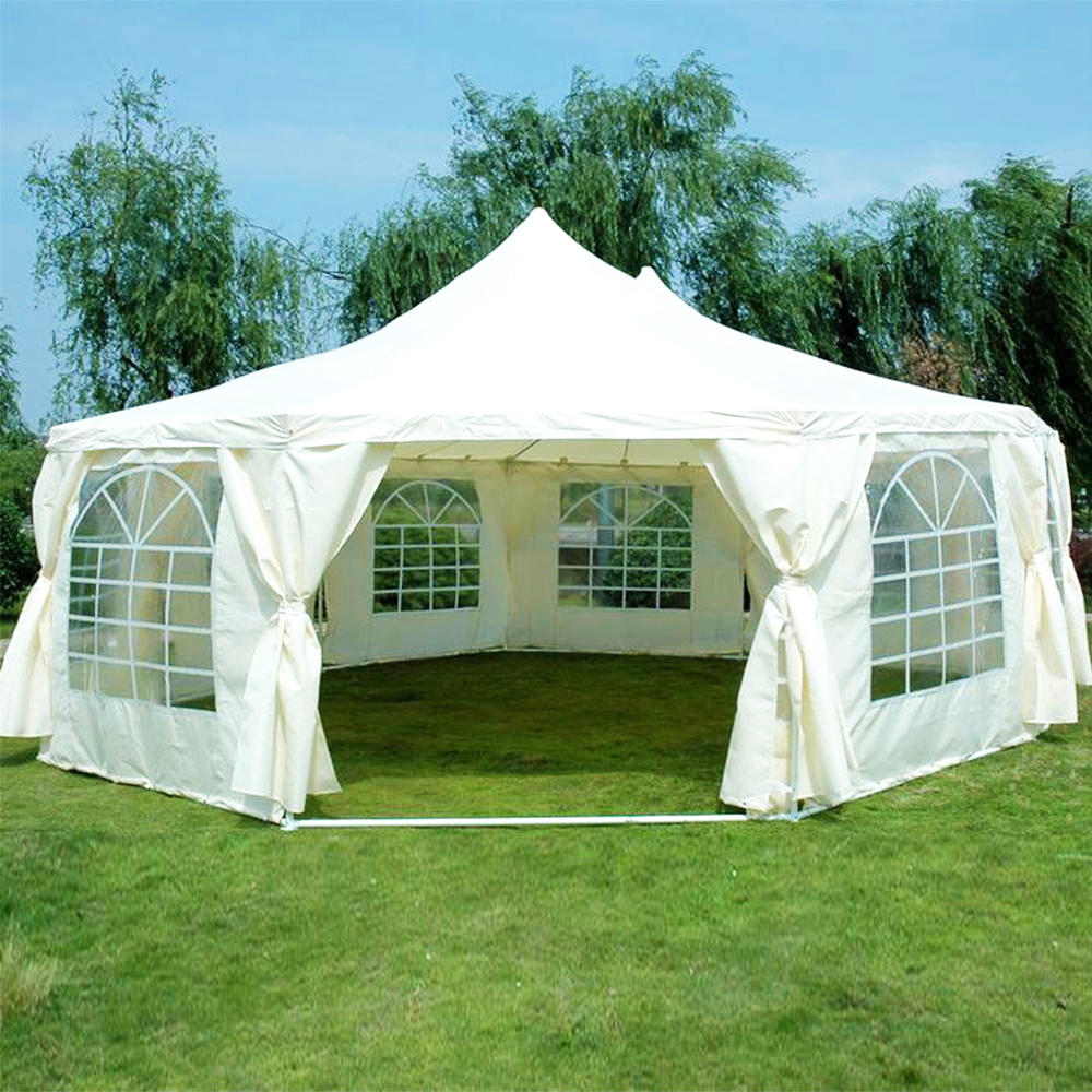 COSCO Outdoor Aluminum PVC Fabric Coated Hexagonal Marquee Party Tent Canopy Gazebo Tent