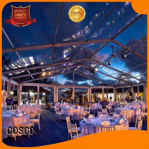 structure party tent exhibition cost