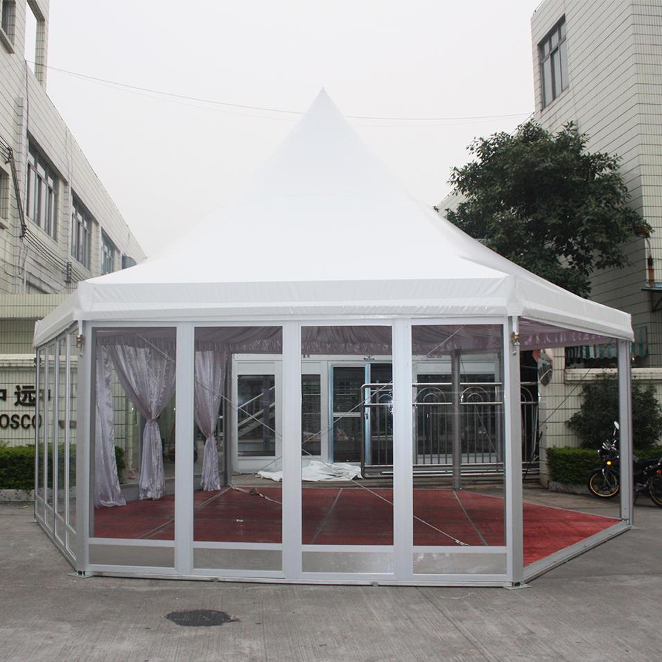 COSCO Customized Multi-side Waterproof Aluminum Frame Garden Hexagonal Gazebo Tent