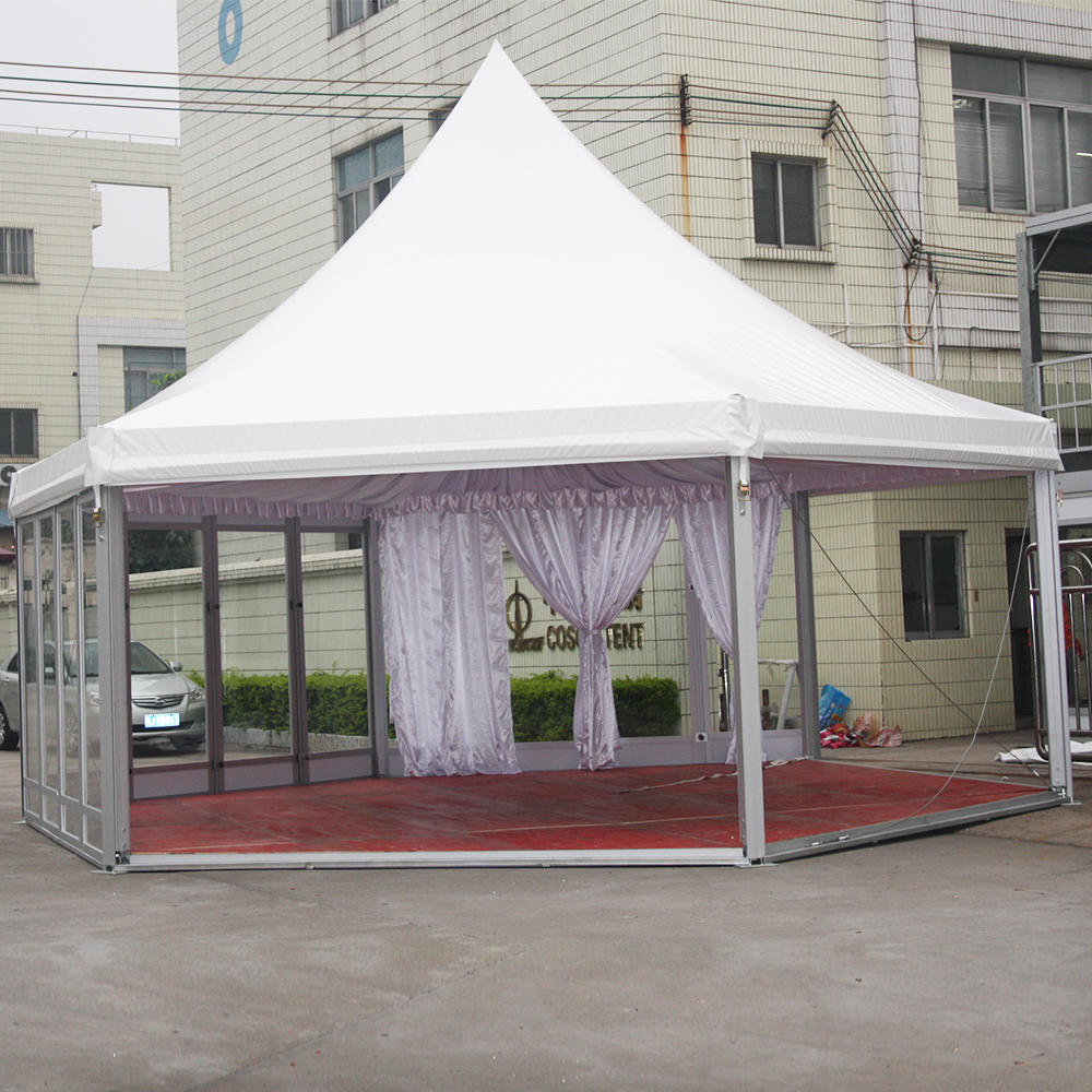 COSCO Customized Outdoor Aluminum Metal Frame Canopy Pyramid Wedding Gazebo