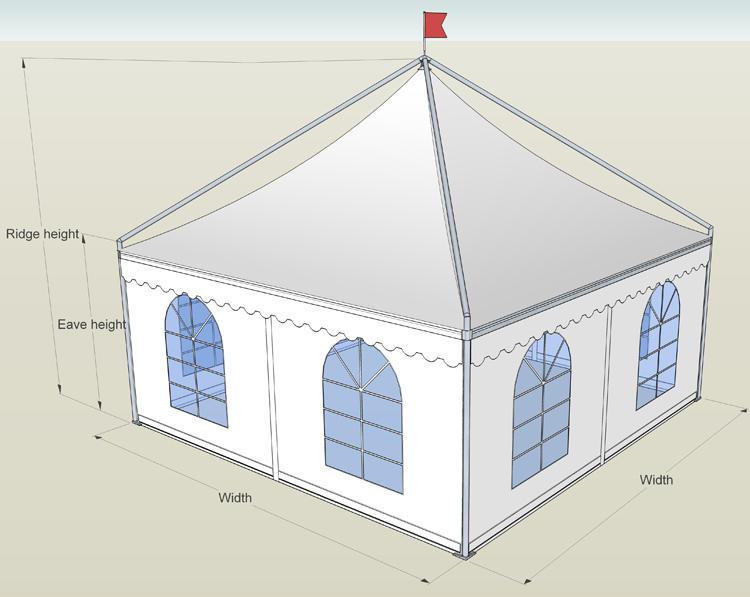 COSCO Customized Permanent Wind Resistant Wedding Pagoda Hexagonal Gazebo Tent With Flooring
