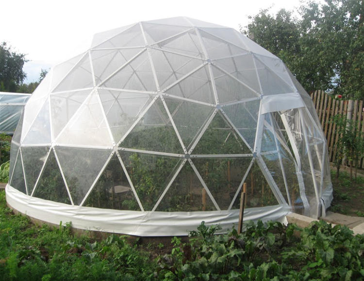 Outdoor Clear pvc round wedding geodesic half sphere canopy dome tent