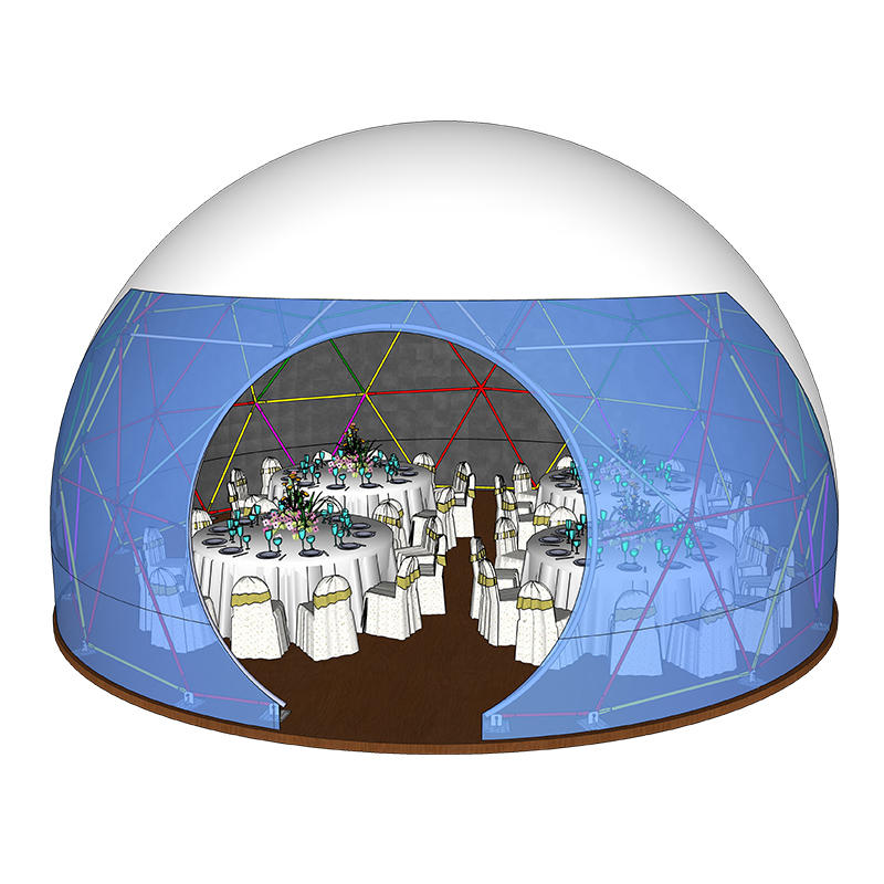Aluminum frame double pvc coated spherical dome tent for party event