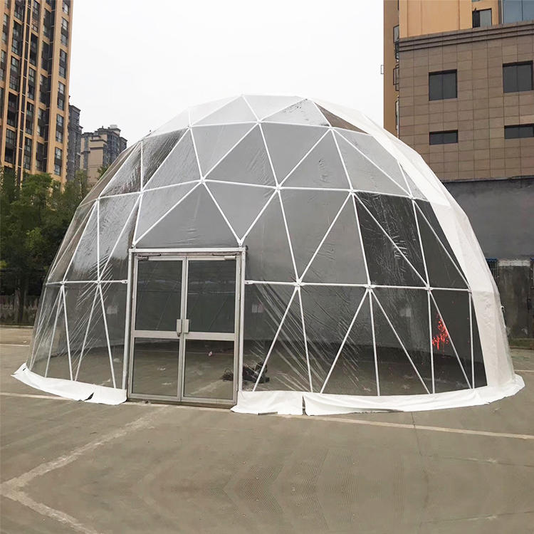 Luxury Outdoor Hotel Aluminum Frame Clear PVC Dome Igloo Tent