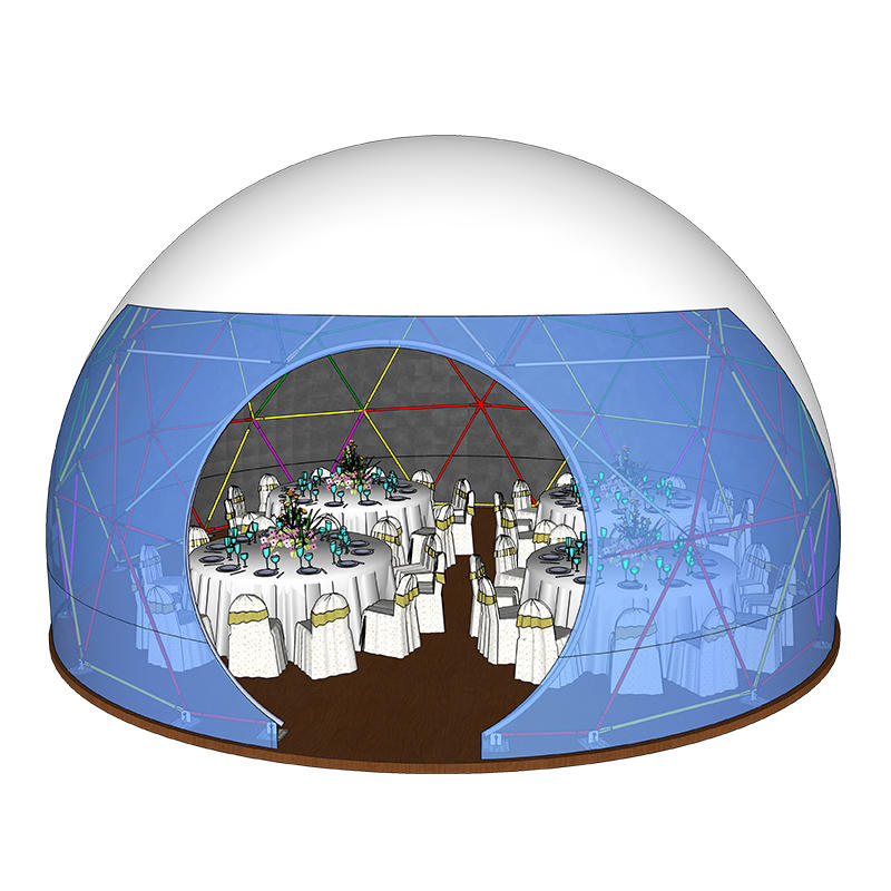 Luxury commercial aluminium frame geodesic dome marquee tent