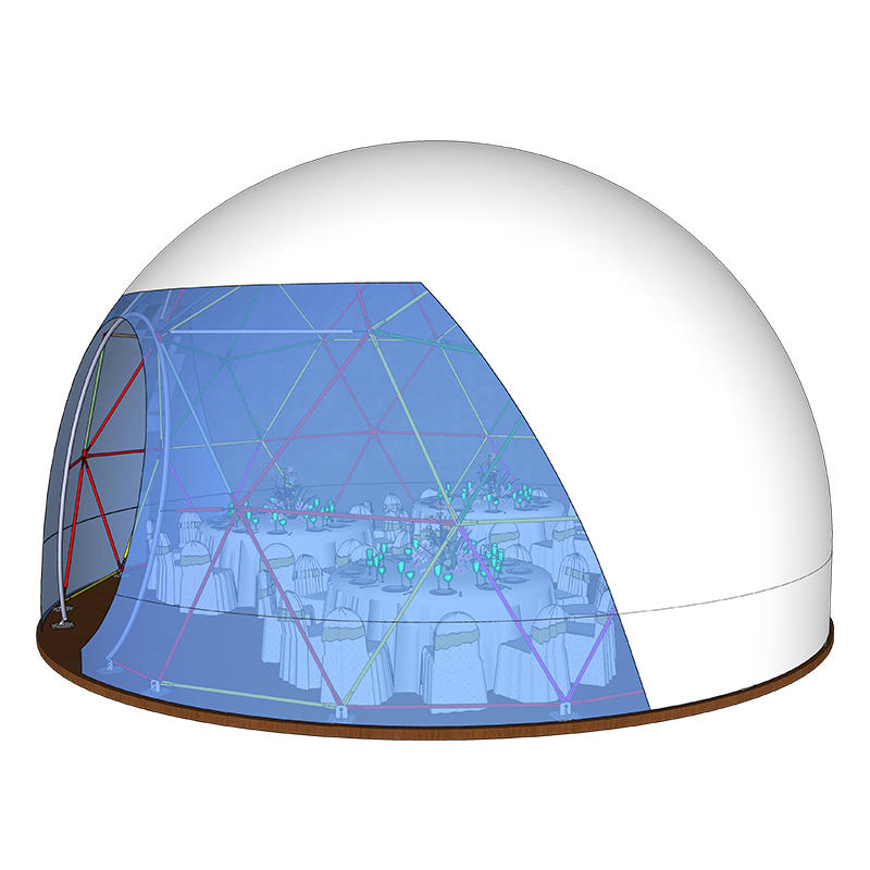 Easy Assembly Commercial Exhibition Dome Tent With Clear PVC Fabric