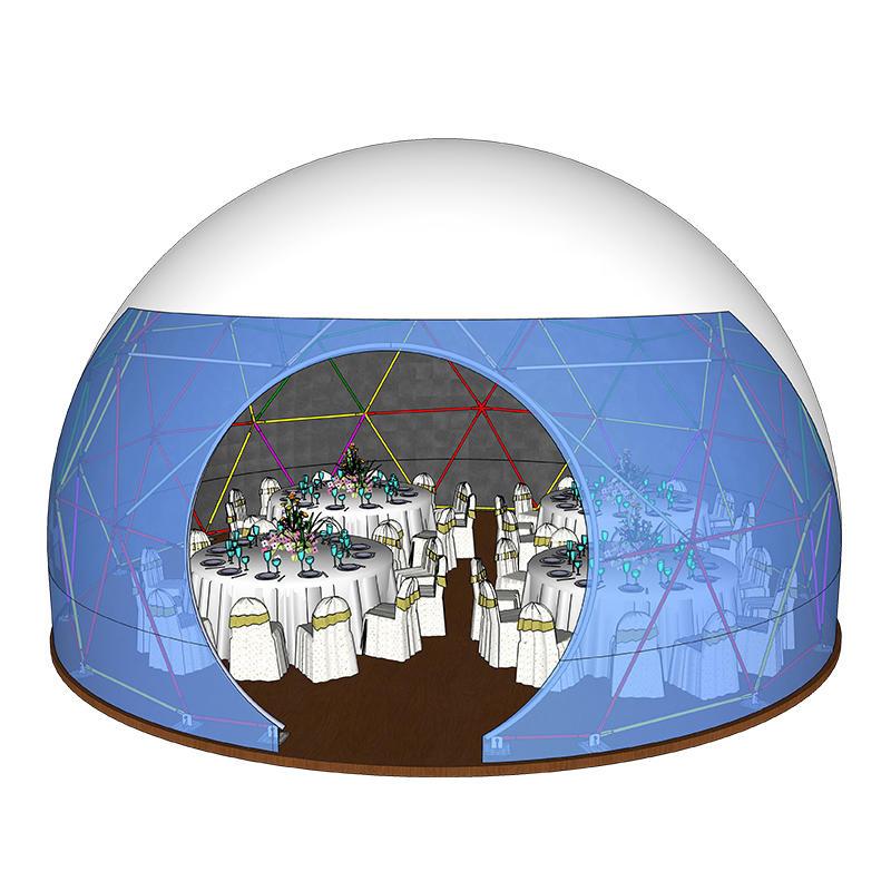 China Supplier Reasonable Price Prefabricated Geodesic Igloo Dome House